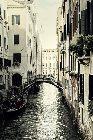Vintage Quiet Venice Canal