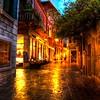 Wet Evening Street in Venice in Soft Light