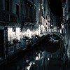 Spooky Venice Canal at Night
