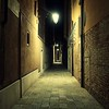 Empty Venice Alley at Night