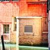 Empty Venice Canal a Sliver of light