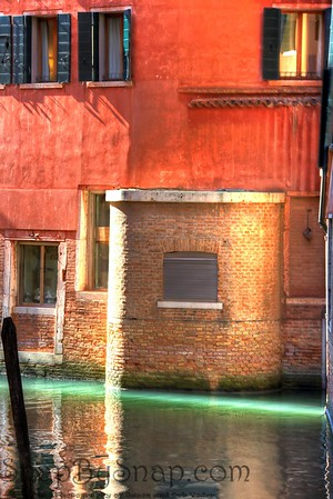 Empty Venice Canal a Sliver of light