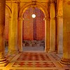Venetian Arched Passage with Light
