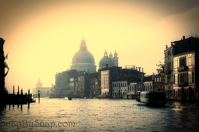 Venice Buildings at Sunrise from the Grand Canal