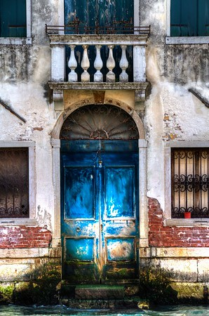 Blue Door on Canal