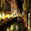 Restaurant in Venice at night.