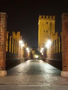 Gita a Verona - Magic lights on the bridge
