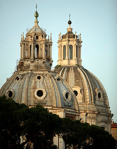The Santa Maria di Loreto, a 16th century church in Rome.