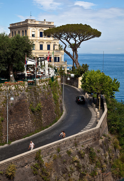 Entering the town of Sorrento
