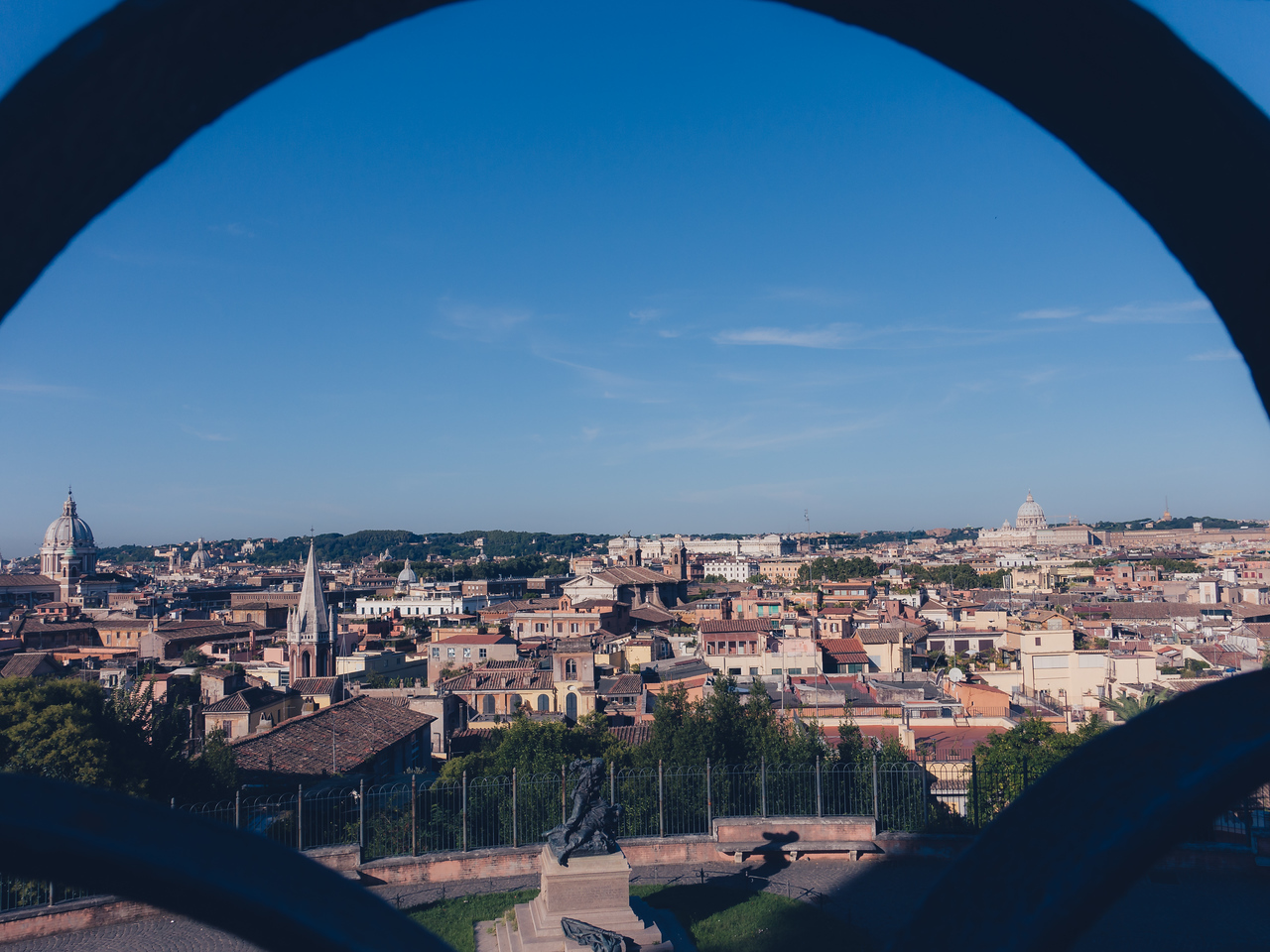 Rome as seen from Gianicolo hill