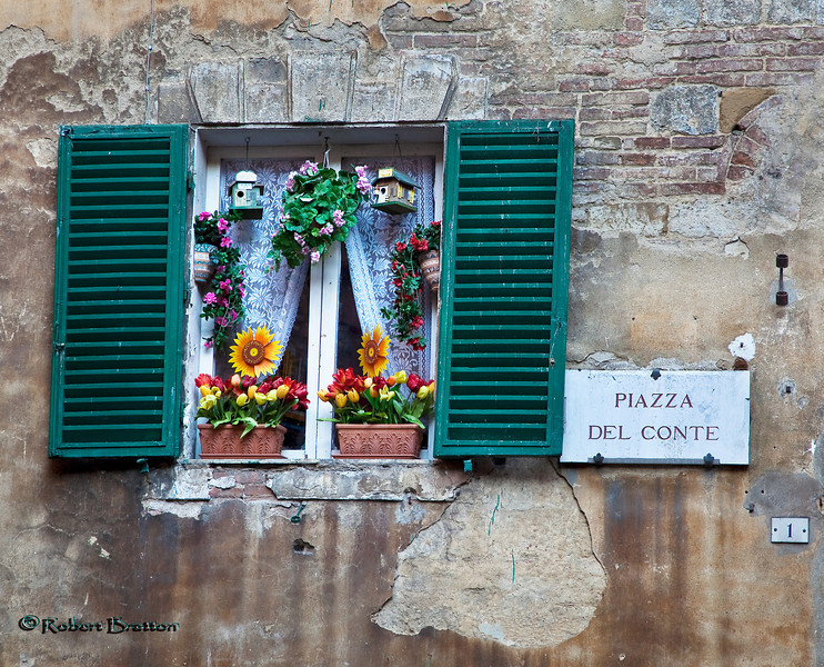 Colorful Window in Siena