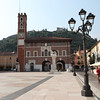 Main Piazza of Marostica with the remnants of the castle at the back