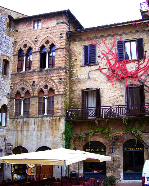 """San Gimignano Town"" San Gimignano is located in the Tuscany Region."