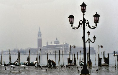 View from piazza San Marco Venice Italy - Jan 1979