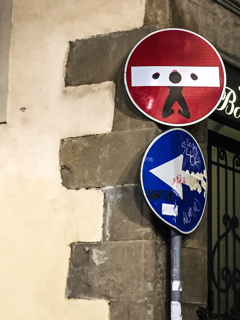 Modern street art in Florence, just one of many things to do in Florence for the first time.