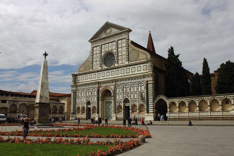 Basilica of Santa Maria Novella. Florence.  Building began about 1246 and was finished about 1360.