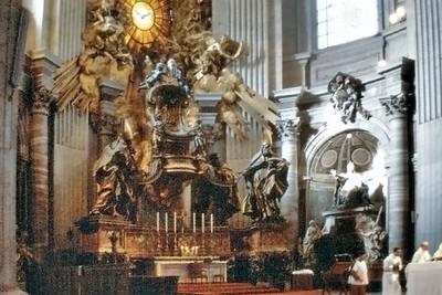 Bernini's altar St Peter Basilca Rome Italy - Jan 1979