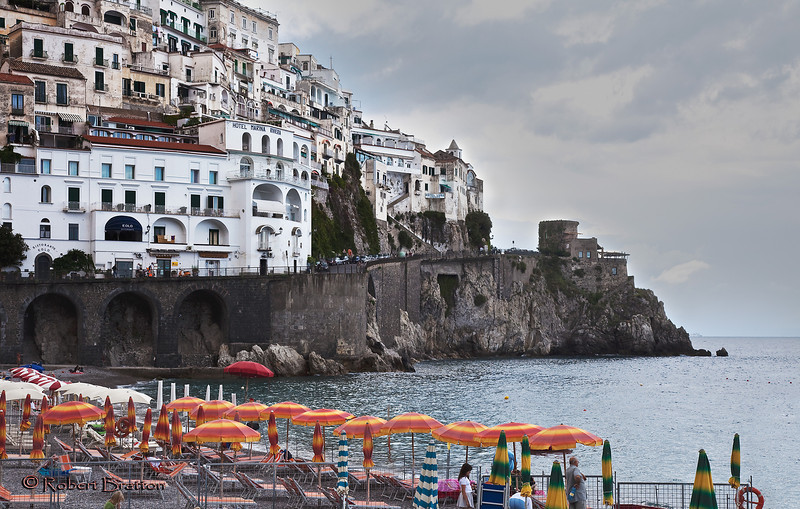 Beach and Town of Amalfi