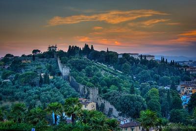 View of Florence from Piazele Michelangelo overlook.