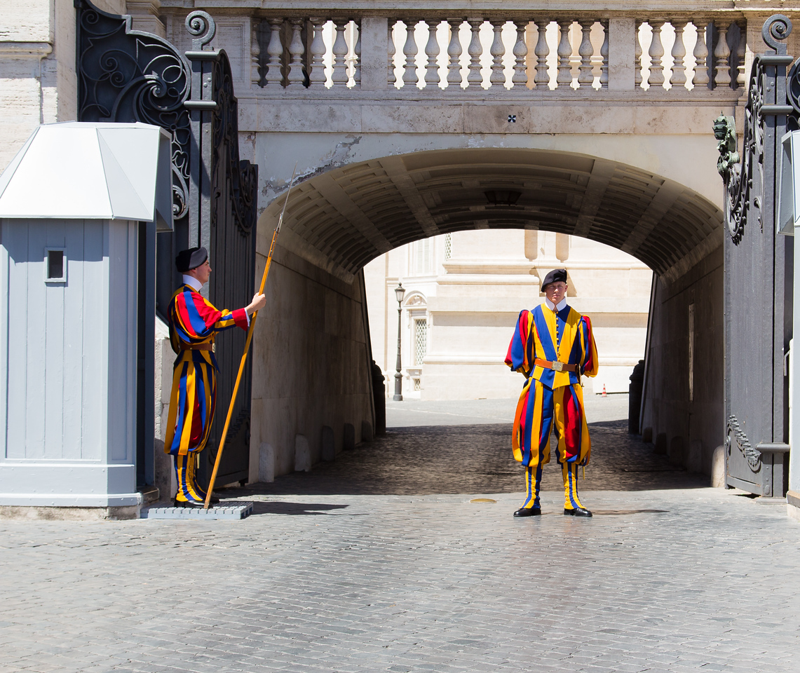 The Swiss Guards at the Vatican