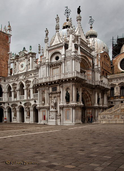 Courtyard of St. Mark's Basilica in Venice