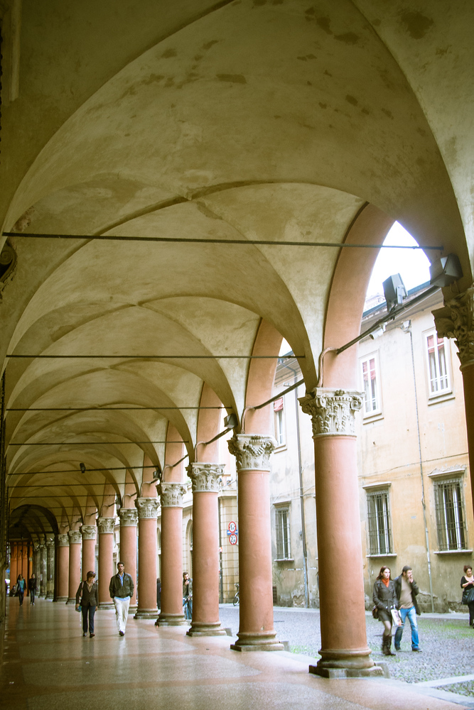 The arcades in Bologna Italy are just one of many reasons to visit this town that most food lovers miss.