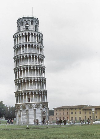Leaning tower Pisa Italy - Jan 1979