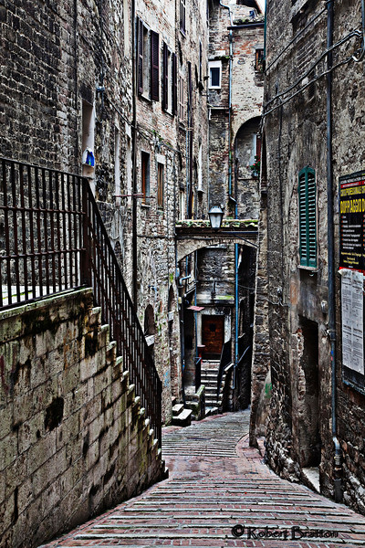 Alleyway of Steps in Perugia