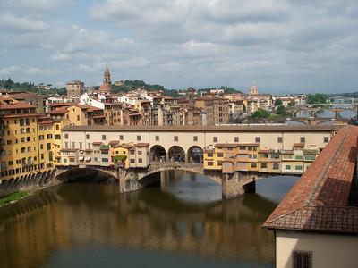 Ponte Vecchio from Galleria degli Uffizi, Firenze