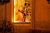 Window shopping-Florence-Old side-dusk.