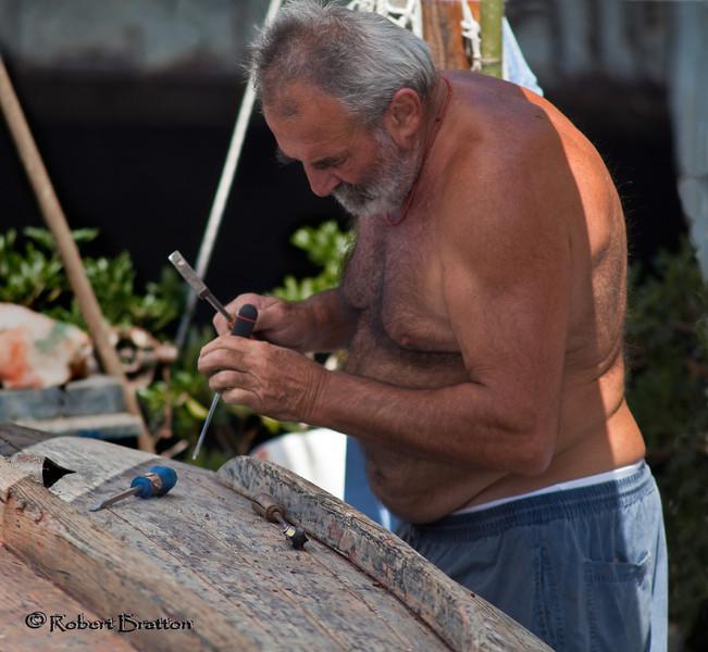 Repairing Boat in Rapallo