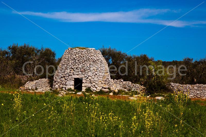 Rock huts near Gagliano