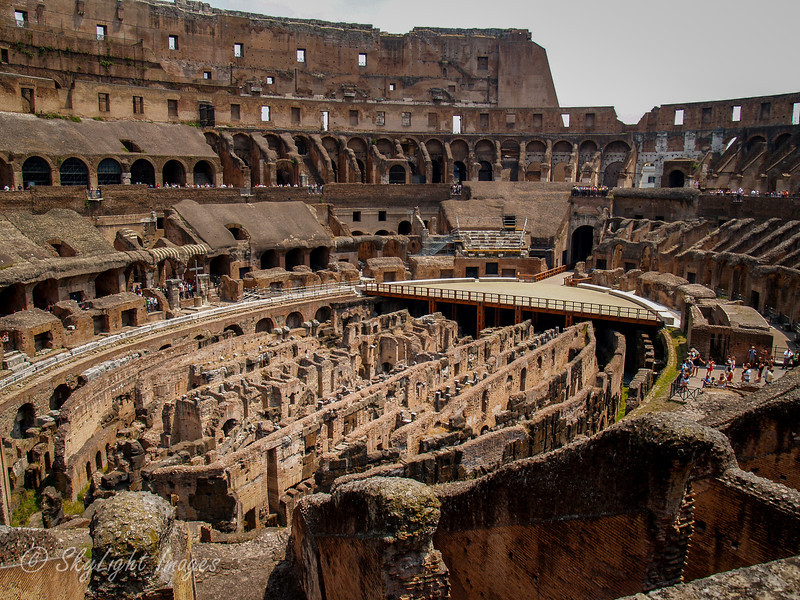 Inside the Coliseum of Rome