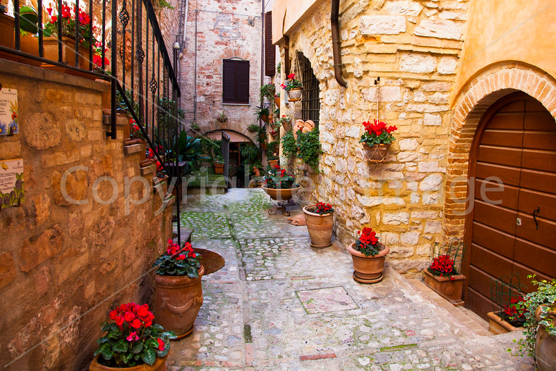 Courtyard in Spello