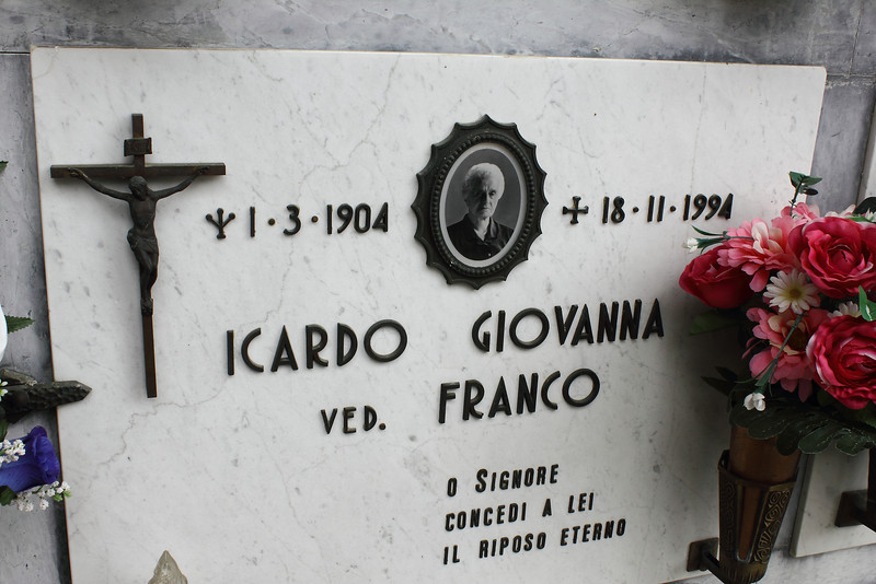 A couple of Icardo's are in St Lorenzo cemetery, Murialdo.