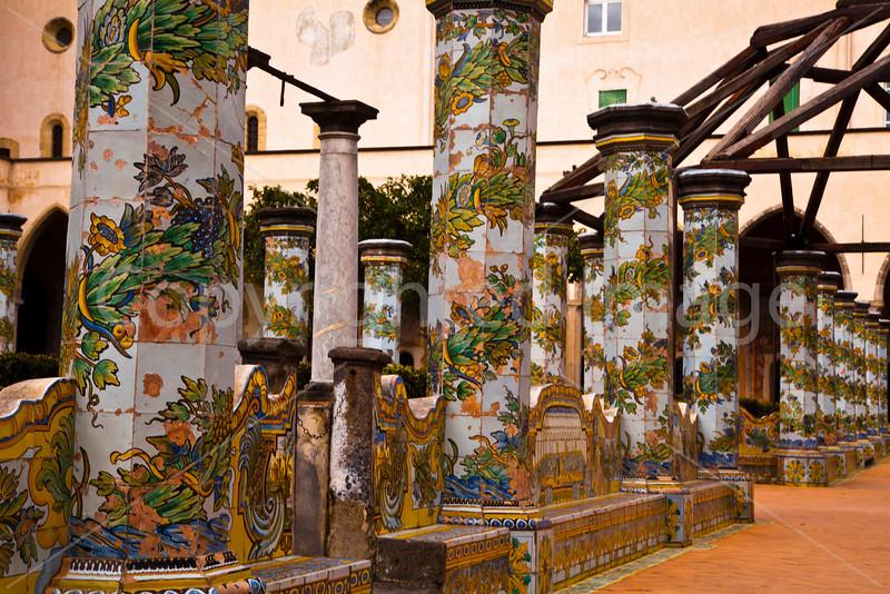 In the Cloister of Santa Chiara
