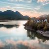 Sunset in Lake Barrea, Abruzzo.