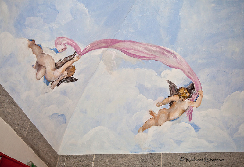 Ceiling in Hotel Il Chiostro del Carmine in Siena