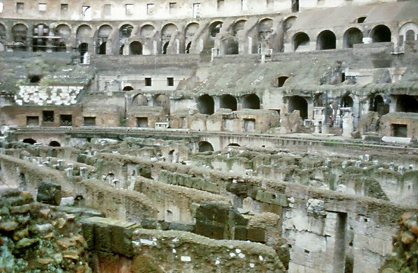 Coliseum interior Rome Italy - Jan 1979