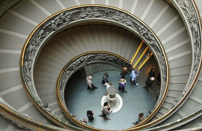 Stairwell, Vatican Museums