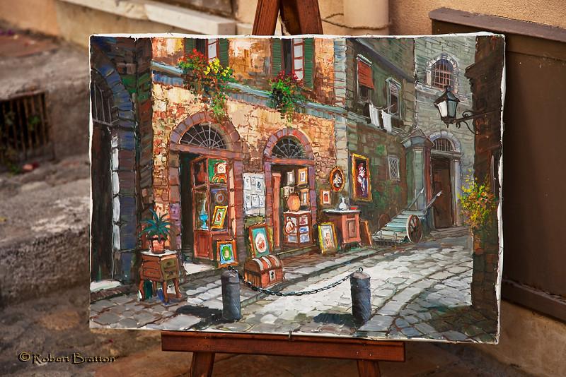 Street Painting in Taormina