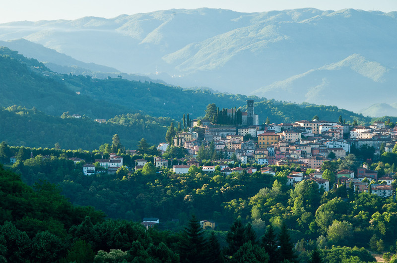 Tuscany--morning view of Barga.