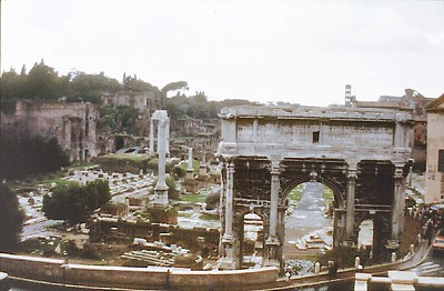 The Forum Rome Italy - Jan 1979