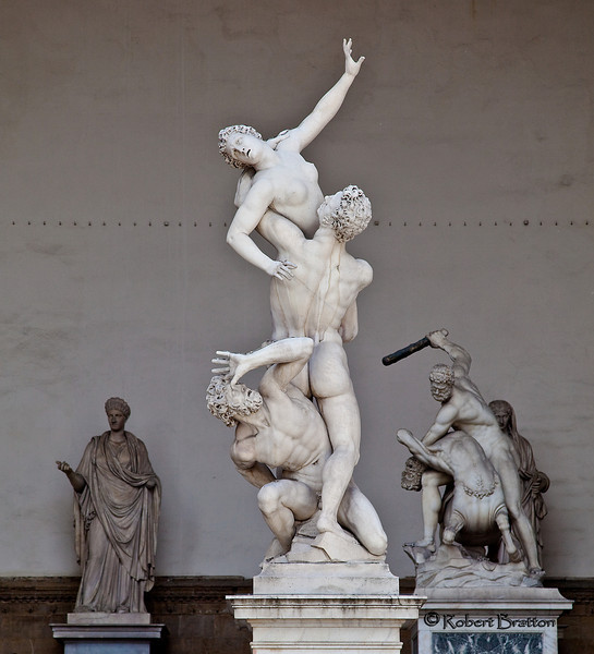 """Rape of the Sabine Women"" in Signoria Square by Giovanni Bologna, 1583"