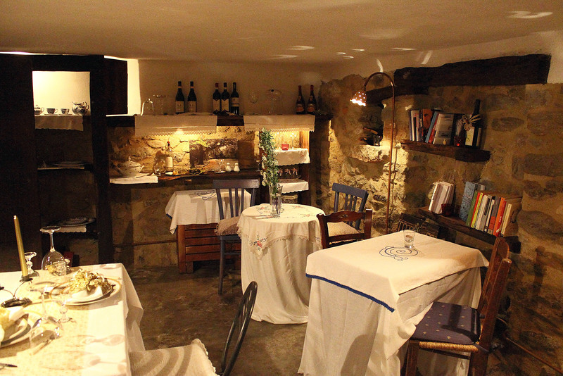 Great little cellar where I had dinner in the Valentina B&B in Murialdo.