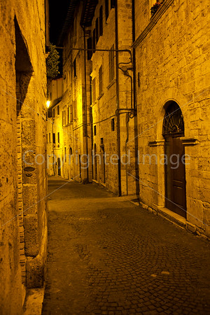 Ascoli Piceno in the evening