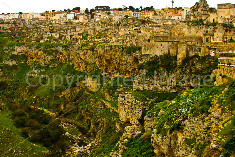 Matera-many of the homes in the old part of town are hewn out of the rock.
