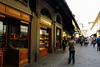 Ponte Vecchio bridge, Florence.  Gold merchants still ocupy the bridge's shops.