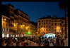 The Square at the Spanish Steps in Rome...after walking back to the hotel we ventured out to the Colosseum and took night photos there.