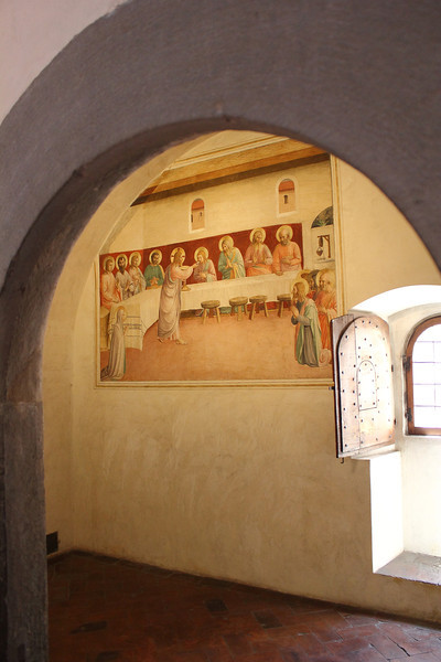 Museum of San Marco, Florence.  One of 43 monk's cells decorated with frescos by Fra Angelico in this 15th century monastery.